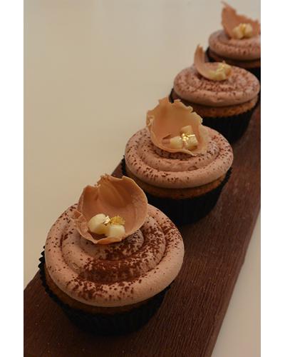 Cupcake Banane, Chocolat au lait, Tonka