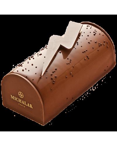 Bûche Chocolat Lait Caramel