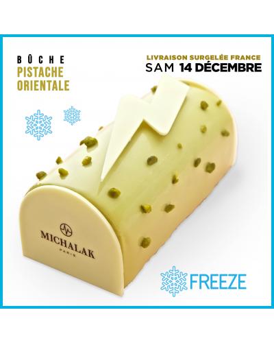 [LIVRAISON SURGELEE SAM 14 DEC.] Bûche de Noël - Chocolat Lait Caramel (6 personnes)