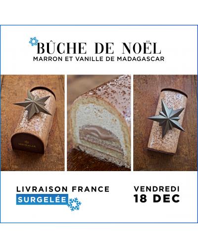 [LIVRAISON SURGELEE VEN 18 DEC.] Bûche de Noël - Chocolat Tarte Citron (6 personnes)Catalogue  Produits